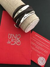 Uno De 50 Leather and Silver Wrapped Around Bracelet - Tied up - Bestseller