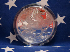 2015 Pegasus Horse 1 Troy Oz .999 Solid Silver Round Coin + Capsule BUPRL Lot A3