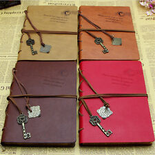 Retro Vintage Classic PU Leather Diary Notebook String Key Journal Sketchbook ./