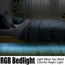 iWDF Motion Activated Colorful Bed Light,RGB LED Sensor Night Light,Double Bed