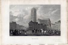 Mechelen-Mecheln-Malines-Mechlin - Stahlstich Batty 1824