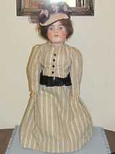 "Antique 25"" Doll  Marked Germany 1001-4 Bisque Head w/Compo Ball Jointed Body"