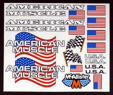 American Flag Detail Decals for RC Cars, Late Models, Stock Cars, Dirt Oval