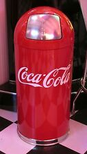 Retro 12 Gallon Coca-Cola Waste Trash Can  Free Shipping