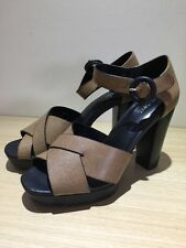 NEXT. BROWN PLATFORMS WITH BLACK HEEL SHOES  SANDALS SIZE 6 (39) BNWOB RRP £38