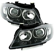 Bmw 3 Series E90 E91 Led White Angel Eye Headlamps Headlights, Depo V3