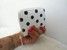 Portefeuille porte feuille blanc à pois noirs rétro pinup vintage girly original