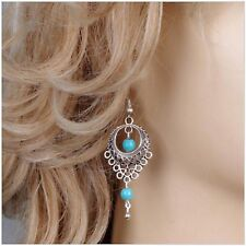 New Design Ethnic Fashion Turquoise Water Drop Dangle Earring Jewellery.