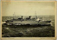 """Cartolina Marina - Motonave """"Victoria"""" Società Di Navigazione Lloyd Triestino -"""