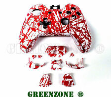 Blood Splatter Xbox One Replacement Hydro Dipped Controller Shell Mod Kit Button