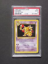 Pokemon PSA 9 1ST EDITION KADABRA 32/102 - Base Set - MINT