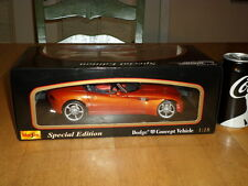 DODGE CONCEPT SPORT CAR CONVERTIBLE, DIECAST METAL MAISTO FACTORY TOY,Scale 1:18