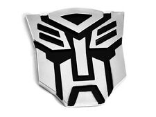 Transformateurs Autobot 3D de qualité voiture emblème badge autocollant Decal capuche / boot chrome