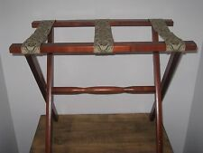 VINTAGE WOOD WOODEN LUGGAGE STAND RACK