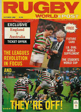 RUGBY WORLD MAGAZINE OCTOBER 1988 - PERFECT GIFT FOR A FAN BORN IN THIS MONTH