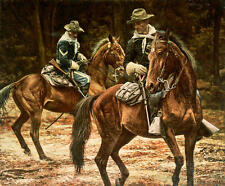 """Looking for a Sign"" Don Stivers Artist Proof Giclee Print - US Cavalry"