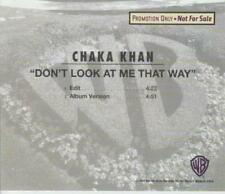Chaka Khan: Don't Look At Me That Way PROMO MUSIC AUDIO CD 2tk Edit & Album 5742
