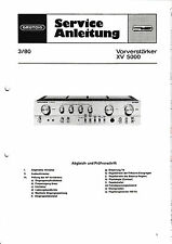 Service Manual-Instructions pour Grundig xv 5000
