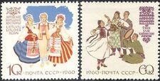 Rusia 1960 trajes tradicionales/Ropa/diseño/animación 2v Set (n44425)