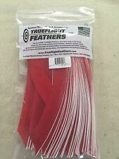 Trueflight Full Length Feathers Right Wing! 100 Pack. Red