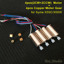 Syma X5SW X5SC RC Drone Quadcopter Spare Parts Engine Motor + Copper Motor Gear