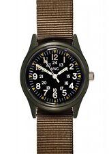 MWC Matt Black 1960/70s Vietnam Pattern Military Watch Olive Khaki NEW BOXED