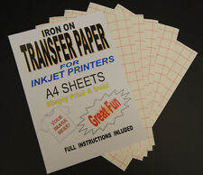 Inkjet Iron On T Shirt Transfer Paper A4 500 Sheets (For Light Fabrics)