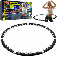 HULA HOOP WEIGHTED MAGNETIC FITNESS EXERCISE MASSAGER ABS WORKOUT