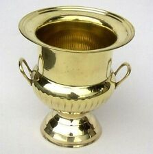 "SOLID BRASS Decorative Cup Urn Vase ICE BUCKET WINE COOLER 10"" Home Bar DECOR"