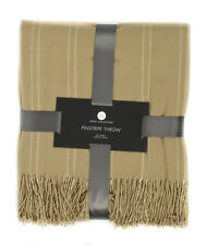 Hotel Collection Pinstripe Throw Blanket Camel - MSRP $160
