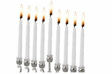 """44 Wax Colorful Hanukkah Candles in White Color 4"""" T *"""