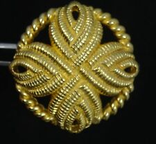 VINTAGE 80's ELABORATED ROPE DESIGN COSTUME PIN BROOCH SIGNED CHRISTIAN DIOR ~ 1