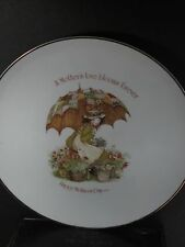 Holly Hobbie  1974 HAPPY MOTHER'S DAY PLATE Girl Umbrella (Not Dated)