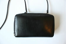 Dolce Vita Genuine Black Leather Crossbody Satchel Wallet