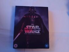 STAR WARS ...THE COMPLETE SAGA ... 6 X FILM COLLECTION, BLU-RAY X 9  DISC SET.
