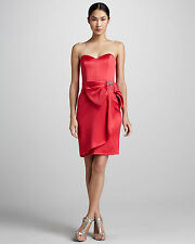 Erin by Erin Fetherston  Bow-Front Sweetheart Cocktail silk Dress sz6 $450