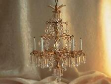 dollhouse doll house miniature CRYSTAL CHANDELIER LAMP