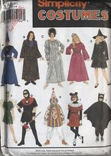 Halloween costume pattern childs s m l witch clown wizard fairy zombie princess