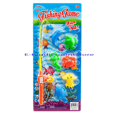 Educational Learn Fish Pond Game Fishing Pole Rod Fish Model Set Kid Toy gift