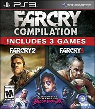 NEW Far Cry Compilation (Sony Playstation 3, 2014) 2 3 Blood Dragon