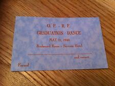 Oak Park And River Forest High School Graduation Dance 1940 Illinois Ticket RARE