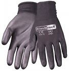 12 PAIRS PU COATED PALMED WORK GLOVES