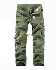 2017 Mens FASHION ARMY CARGO COMBAT WORK PANTS CASUAL CAMO MILITARY TROUSERS