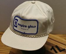 VINTAGE EMPIRE GLASS SPOKANE WASHINGTON HAT SNAPBACK BEIGE VERY GOOD CONDITION
