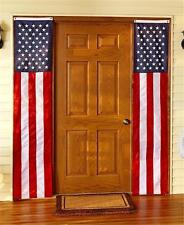 """2 RED WHITE AND BLUE PATRIOTIC AMERICANA 98"""" X 18"""" DOOR FLAG BANNERS HOME DECOR"""