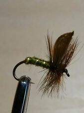 Green Well Glory Winged Trout Buzzers Dry Fly Fishing Trout Flies