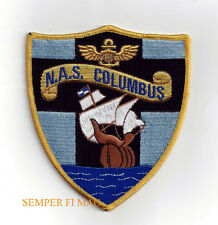 NAVAL AIR STATION NAS COLUMBUS OH PATCH US NAVY USS FMF MARINES PIN UP GIFT WOW