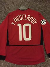 MANCHESTER UNITED 2002/03 CHAMPION LEAGUE HOME SHIRT ADULTS(M) 10 v.NISTELROOY