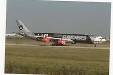 Air Asia Airbus A340-313X Oakland Raiders Aviation Postcard, A746