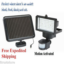 Solar Powered Security Light LED Motion Activated Detector Sensor Outdoor New